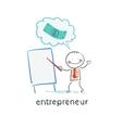 entrepreneur a presentation vector image vector image