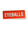 Eyeballs square sticker on white