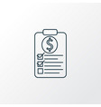 financial plan icon line symbol premium quality vector image