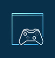 gamepad with video game console colored outline vector image vector image