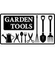 garden tools collection vector image vector image