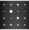 Glowing light effect stars bursts