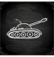 hand drawn army tank