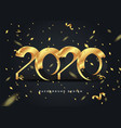 happy new year 2020 shining background vector image vector image
