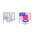 happy presidents day icon or label design vector image vector image