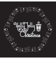 Holly Jolly Christmas card Lanterns and vector image vector image