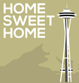 home sweet seattle vector image