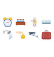 hotel and equipment icons in set collection for vector image