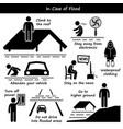 in case flood emergency plan stick figure vector image vector image