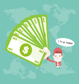 Investor cartoon business vector image