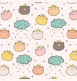 king bear pattern background for kids vector image