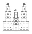 line castle built on an kingdom to protect them vector image