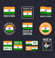 made in india labels set republic india vector image vector image