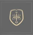 marine emblem vector image