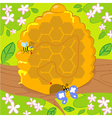 Maze game with bee and butterfly vector image vector image