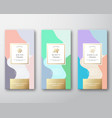 mint vanilla and anise chocolate labels set vector image vector image