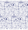my blog sketch seamless pattern vector image vector image