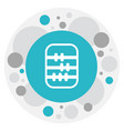 of service symbol on abacus vector image