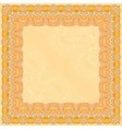Orange abstract design square frame vector image vector image