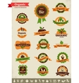 Organic food labels tags and graphic elements vector | Price: 1 Credit (USD $1)