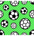 pattern with soccer balls on background circles vector image