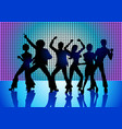 people disco dancing vector image vector image