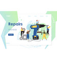 repairs website landing page design vector image vector image