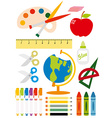 School equipment vector image vector image