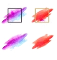set brush stains abstract vector image