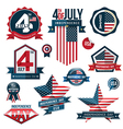 set independence day vector image vector image