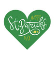 st patricks day abstract logo design template vector image vector image