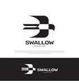swallow logo icon design vector image