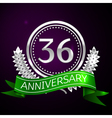Thirty six years anniversary celebration with vector image vector image