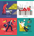 tired worker design concept vector image vector image