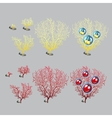 Unusual corals with apple and cherry vector image vector image