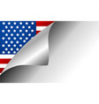usa country flag turning page vector image vector image