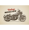 Vintage motorcycle Hand drawn motorbike vector image vector image