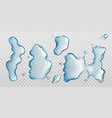 water spill puddles top view aqua liquid splashes vector image vector image