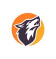 wolf logo vector image vector image