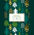 year gold folk pine tree card vector image vector image