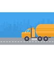 yellow road tanker vector image vector image