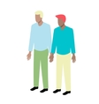 Young isometric gay couple vector image