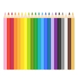 Colored Pencils on White vector image