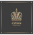 Golden crown logotype vector image