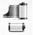 realistic 3d detailed camera film roll cartrige vector image