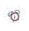 alarm clock line vector image