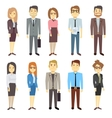 Businessmen businesswomen employee people vector image