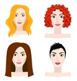Different types of woman and girl appearance vector image