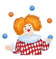 A Juggling Clown vector image
