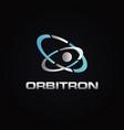 abstract orbit logo design symbol icon vector image
